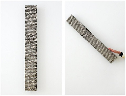 sonic rotating line type a - nickel plated #4 by haegue yang