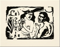 le sourire (femmes bavardant) by paul gauguin