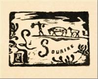 le sourire (homme portant des bananes suivi par deux chevaux) by paul gauguin
