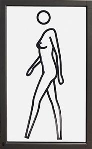 sara walking naked by julian opie