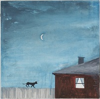cat on fence by noel mckenna