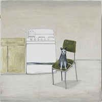 cat in kitchen by noel mckenna