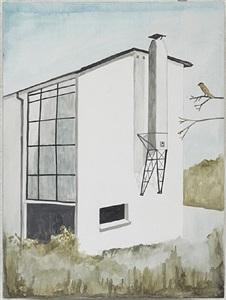 bird beside home of max bill by noel mckenna