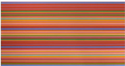 then and now bleibstreustr. by bridget riley