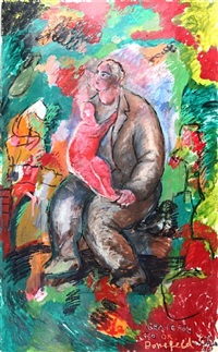 father and child by sandro chia