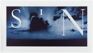 sin-without (blue) by ed ruscha