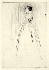 the velvet dress (mrs. leyland) by james abbott mcneill whistler
