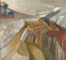 1923 (vineyard in winter) by ben nicholson