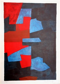 composition in red, blue and black by serge poliakoff