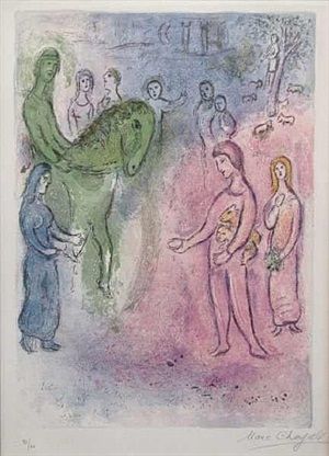 the arrival of dionysophanes by marc chagall
