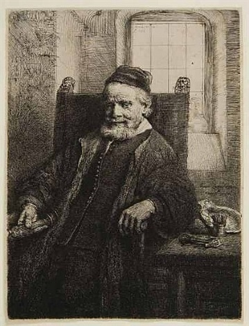 jan lutma the elder, goldsmith by rembrandt van rijn