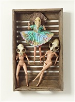 katzenschädel-striptease-tänzerinnen by daniel spoerri
