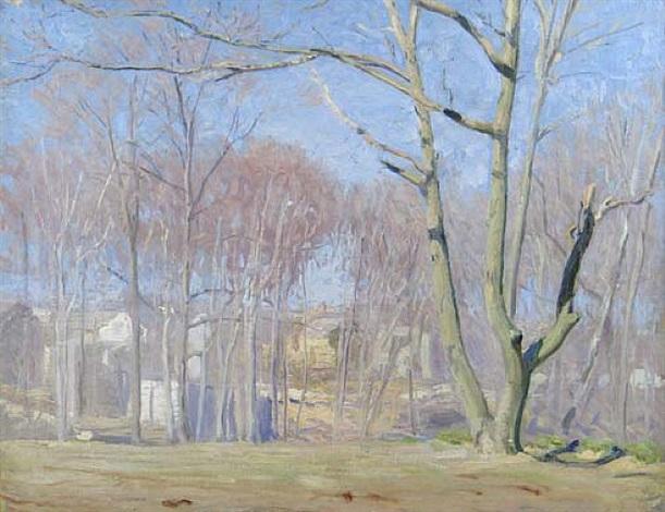 a wooded landscape by daniel garber