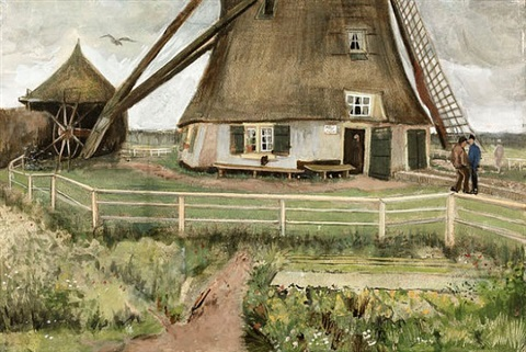 le moulin by vincent van gogh