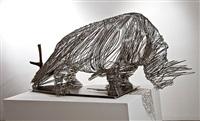 captured rhino by li hui