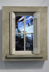 window captive reflection by leandro erlich