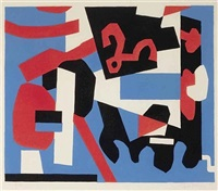 detail study for a cliché by stuart davis