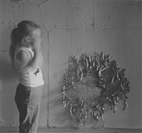 untitled (figure and wall detail) by ralph eugene meatyard