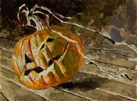 rolling jack-o-lantern by jamie wyeth