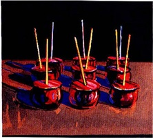 candy apples (sold) by wayne thiebaud