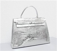 not yet titled (crocodile kelly bag) by sylvie fleury