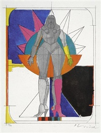 untitled i / starwoman by richard lindner