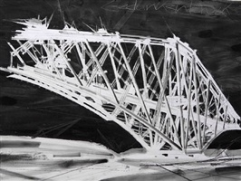 gedankenbrücke weiß – schwarz / bridge thought white - black by constantin jaxy