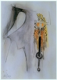 untitled (femme cheval) by wifredo lam