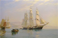 the 'ann mckim' leaving foochow for home by montague dawson