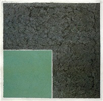 colored paper image xviii (green square with dark gray) by ellsworth kelly