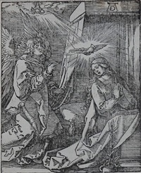 the annunciation (the small passion) by albrecht dürer