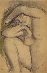 étude de nu by edgar degas
