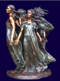daughters of odessa ensemble (three-quarter life size) by frederick hart