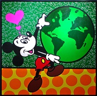 mickey's world by romero britto