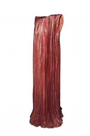 dark pink delphos dress by isabelle de borchgrave