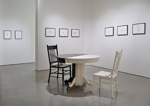 installation view - roy mcmakin: some drawings and a table