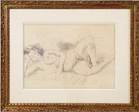 "unknown title ''femme nue"" by jules pascin"