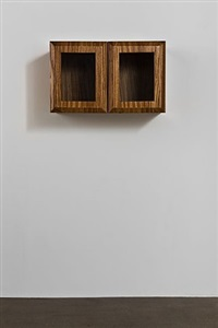 untitled (zebrawood cabinet) by elad lassry