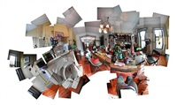 what i see(messy table, kitten, fish, my kitchen, park slope, brooklyn) by byron kim