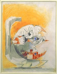 fossil with rocks (study) by graham sutherland