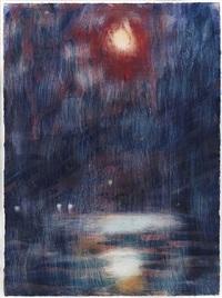 blauer mondschein am lago maggiore by christian rohlfs