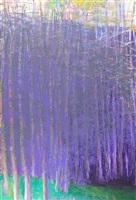 pink sky, purple trees by wolf kahn