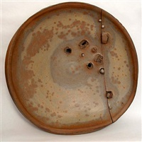 matte gas fired plate by peter voulkos