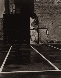 parking lot, battery street, san francisco by minor white