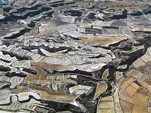 dryland farming #13, monegros county, spain by edward burtynsky
