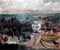 still life (tribute to delacroix) by marino marini