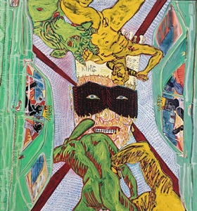tumescence peter doig, sigmar polke, peter saul, michael williams by peter doig