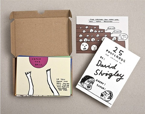 25 postcards for writing on by david shrigley