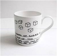 six sugar mug mug by david shrigley