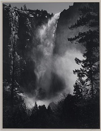 bridalveil fall by ansel adams